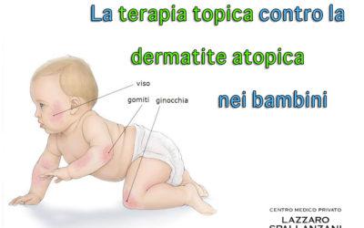 La terapia topica contro la dermatite atopica nei bambini