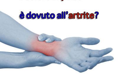 In quali casi il dolore al polso è dovuto all'artrite?