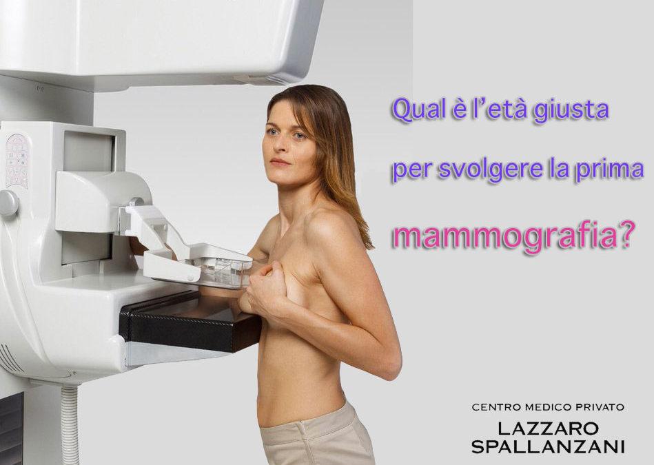 Qual è l'età giusta per svolgere la prima mammografia?
