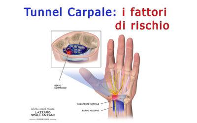 La sindrome del tunnel carpale e i fattori di rischio